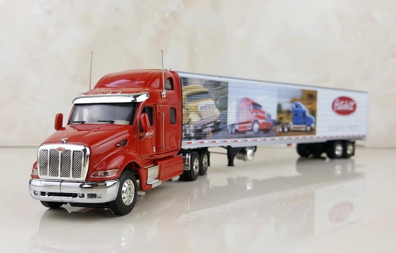 Kolekcjonerska zabawka ze stopu Model prezent DCP 1:64 skala American Peterbilt, Freightliner ciężarówka kontenerowa przyczepa do ciągnika Model pojazdów