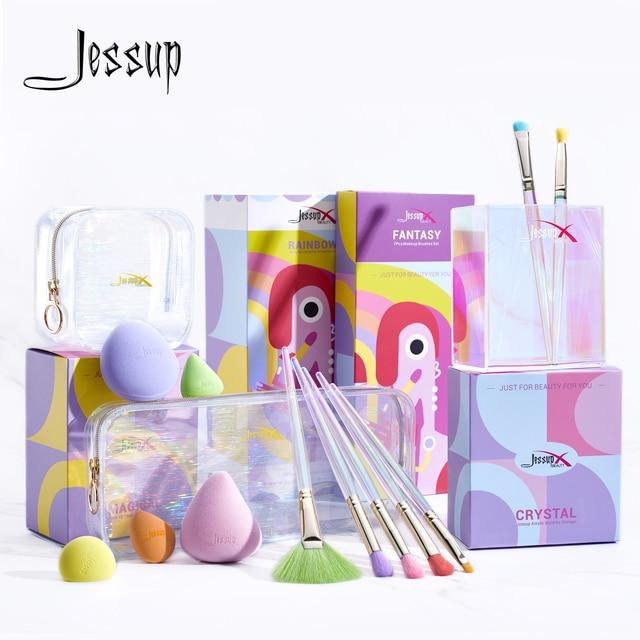 Jessup Makeup Brushes Set Eyeshadow Concealer Blending Brush, Make Up Sponge, Storage Box, Cosmetic Tool Kits With PU Bag 1