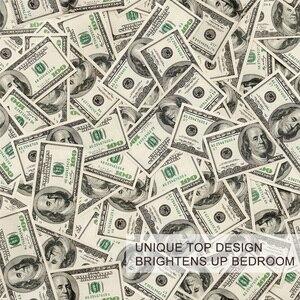 Image 3 - BlessLiving 3Dโมเดิร์นชุดเครื่องนอนDollar Motifพิมพ์ผ้านวมVividผ้าพันคอ 3 ชิ้นเงินรูปแบบชุดDropship