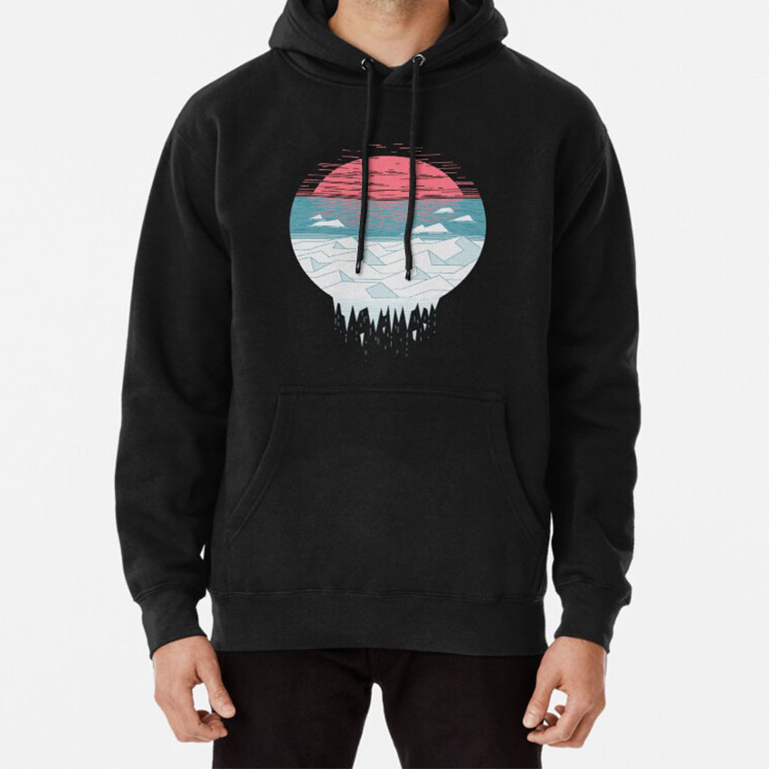The Great Thaw Hoodie Climate Sun Arctic Ice Ocean Environment Nature Landscape Cool Blue