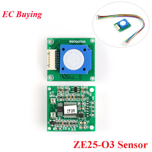 ZE25 O3 Ozone Meter O3 Sensor Module Gas Sensors For Ozone Monitor 0 10ppm with UART/Analog Voltage/PWM Wave 3.7 to 5.5V ZE25 O3