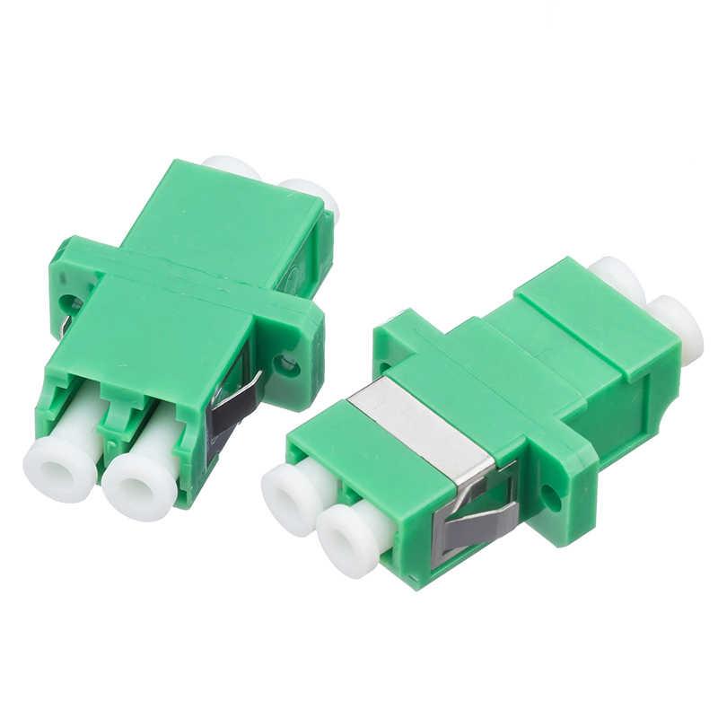 100 unids/lote LC-APC adaptador acoplador de fibra SM DX conector de brida óptica LC fibra APC