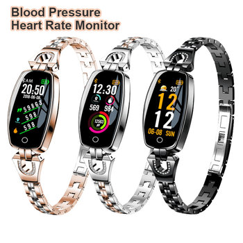 цена на Heart Rate Monitor Smart Watch Women Girl Crystal Luxury Pedometer Sport SmartWatch Bracelet Waterproof Watches For Android iOS