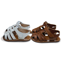 Cowhide Boys saltwater sandals Summer breathable Genuine Lea