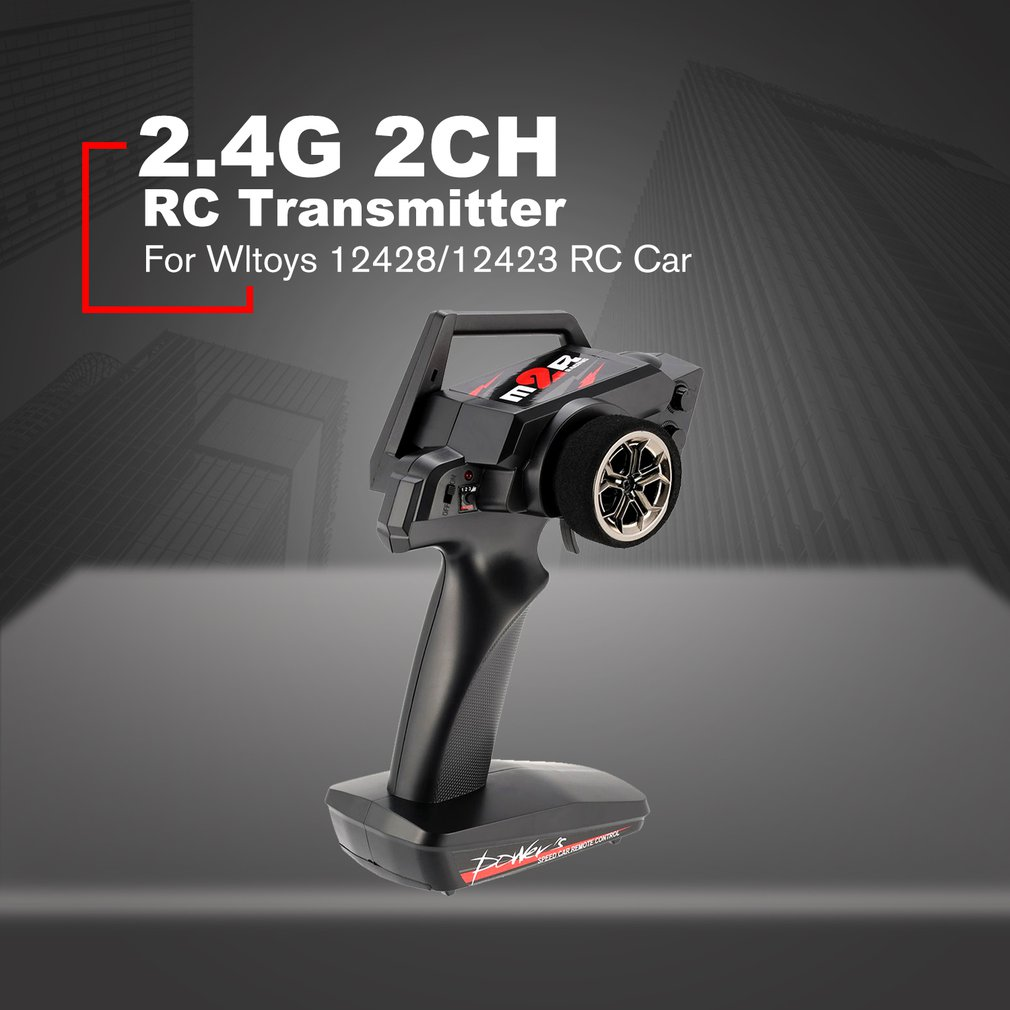 New 2.4G 2CH Transmitter Remote Control Radio Spare Parts For RC Car 1/12 Wltoys 12428/12423 4WD Crawler Right Hand Mode