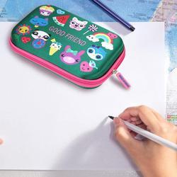 Trwałe EVA piórnik ze wzorem z kreskówki na zamek błyskawiczny pudełko na artykuły biurowe prezenty dla uczniów przechowywanie kosmetyków kosmetyczka Student zaopatrzenie szkolne
