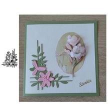 Jc металлический Трафаретный вырубной штамп цветок и листья