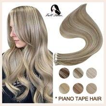 Полный блеск ленты в волосы для наращивания Выделите пианино
