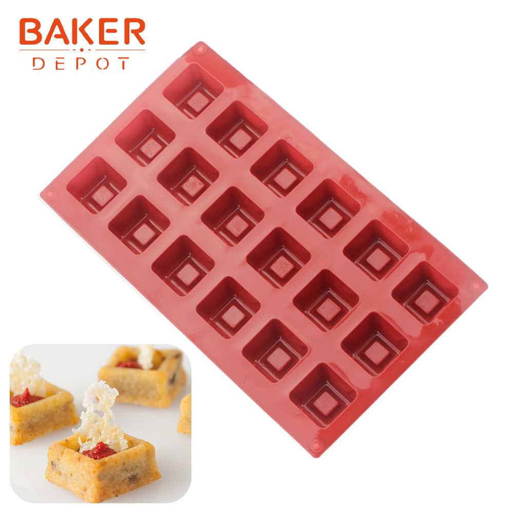 <font><b>BAKER</b></font> <font><b>DEPOT</b></font> Silicone mold for cake pastry baking square jelly pudding ice cube tray handmade soap tool dessert cake decoration image