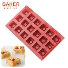 Padeiro depot molde de silicone para bolo pastelaria cozimento quadrado jelly pudim ice cube bandeja artesanal ferramenta sabão sobremesa decoração do bolo