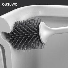 Силиконовая щетка для унитаза с мягкой щетиной, ершик для ванной комнаты и Набор держателей, Настенная или напольная щетка для чистки