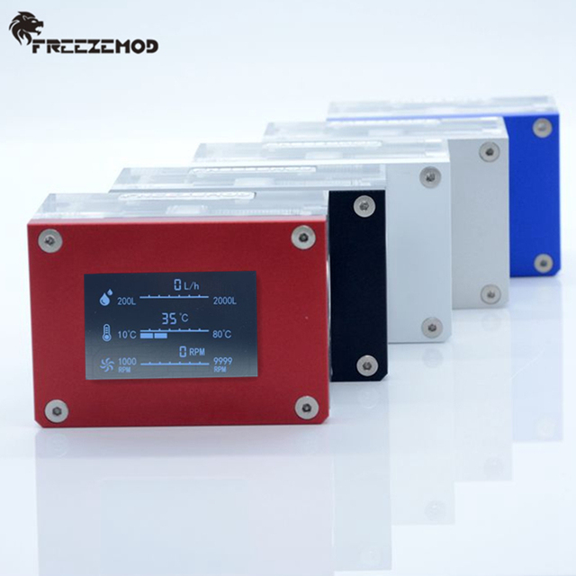 FREEZEMOD מחשב מצנן מים 2019 חדש אינטליגנטי מחשב זרימת מהירות LCD טמפרטורת זיהוי מים קריר זרימת מטר. LSJ ZN