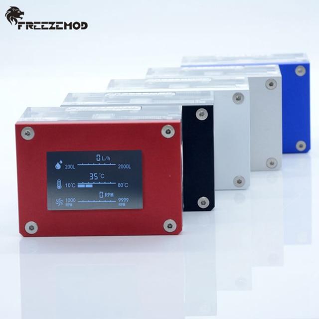 FREEZEMOD pc مبرد مياه 2019 جديد ذكي الكمبيوتر تدفق سرعة LCD كشف درجة الحرارة مبرد مياه تدفق متر. LSJ ZN