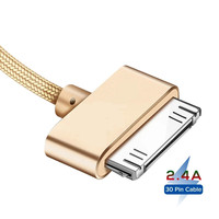 Cable USB de carga rápida para móvil, Cable adaptador de datos de 30 Pines, de 1m, 2m, para iPhone 4S, 4, 3GS, 3G, iPad 1, 2, 3, iPod Nano iTouch