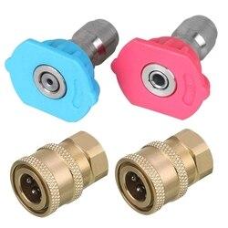 Myjka ciśnieniowa wskazówek  myjka ciśnieniowa zestaw akcesoriów  2-Pack 2Nd historia sprej spryskiwacza końcówki do dyszy  2-Pack myjka ciśnieniowa szybkie C