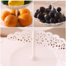 Three-layer Fruit Plate Snack Snacks Set Plate Hollow Storage Tray Fruit Basket Removable Snack Tray Home Kitchen Storage Tools