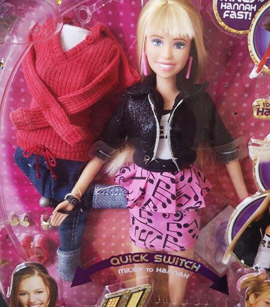 Hannah miley menina moda boneca jogar casa bebê boneca diy moda boneca brinquedo crianças presente de aniversário