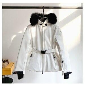 Image 4 - real fur downs coats for women genuine fox fur hooded coat super warm female duck down winter fur hooded winter down coat