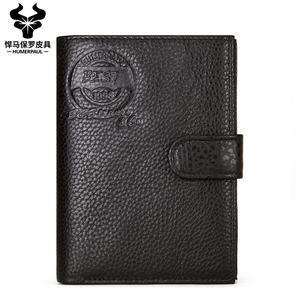 Новое поступление 2020, классический мужской бумажник из натуральной кожи для паспорта, повседневный Кошелек для монет