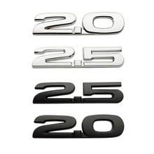 Etiqueta do carro 3d metal 2.0 2.5 adesivo emblema emblema decalques para mazda axela 2 3 ms 6 cx5 CX-4 cx3 cx5 cx8 estilo do carro acessórios