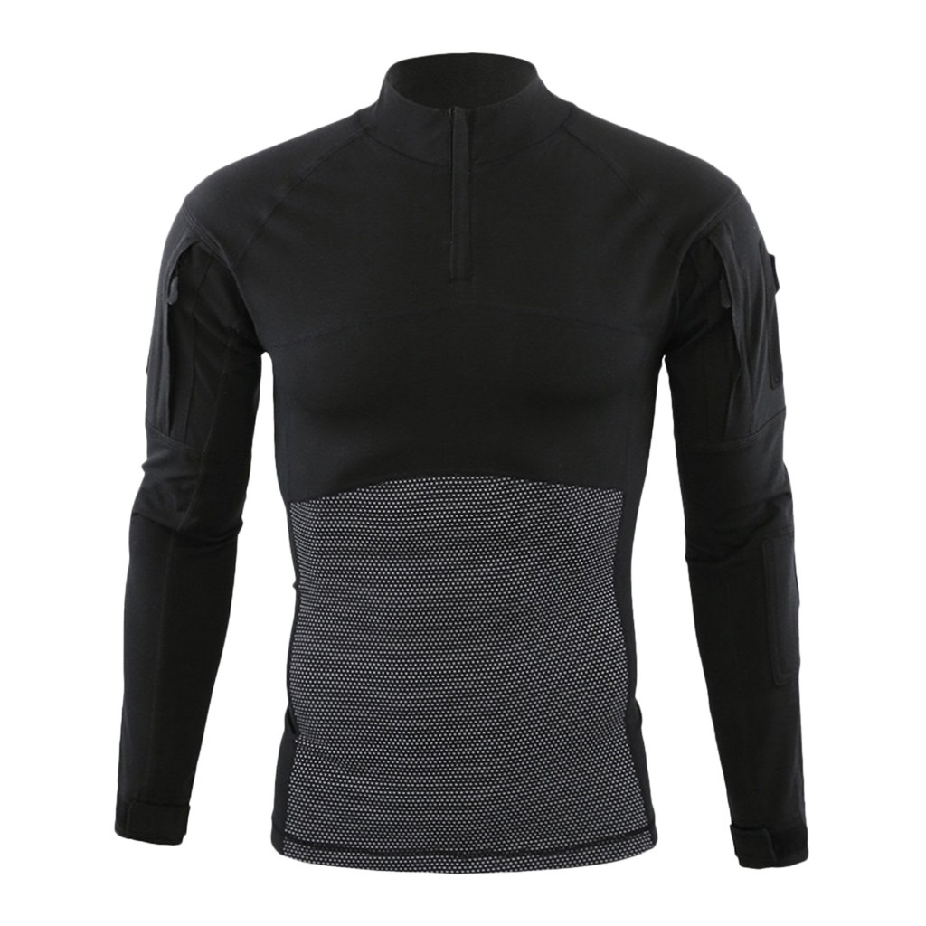 T Shirt Men Long Sleeve Cotton Autumn And Winter Men Muscle Tactical Long Sleeve Elastic Quick Training T shirts Tops Blouses in T Shirts from Men 39 s Clothing