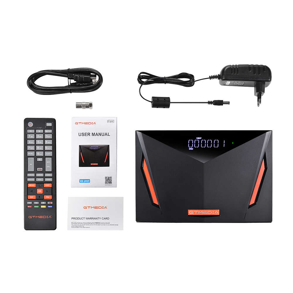 Gtmedia V8 UHD 4k ricevitore satellitare DVB S2 Builting wifi supporto H.265 DDVB-S/S2/S2X + T/T2/Via Cavo/ATSC-C/ISDBT VS V8X
