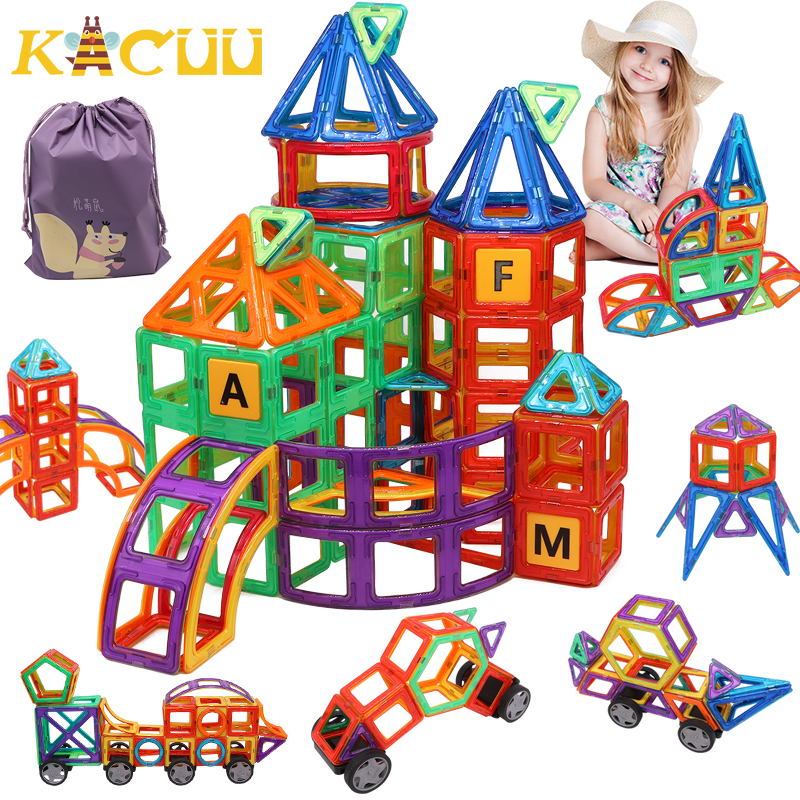 Hediye çantası büyük boy manyetik tasarımcı inşaat seti modeli ve bina oyuncak plastik manyetik bloklar eğitici oyuncaklar çocuklar için
