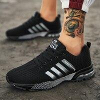 Zapatillas ligeras para correr para hombre, calzado deportivo transpirable y cómodo para exteriores, con cuatro bares, antideslizantes