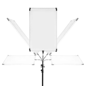 Image 3 - 27cm 1/4 나사 금속 태양 scrim led 빛 스피드 라이트 플래시 브래킷 홀더