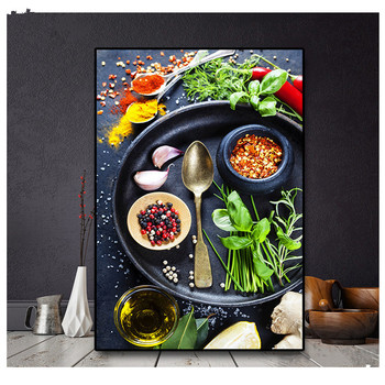 5d Diamond Embroidery Still Life Grains Spices Spoon Kitchen Square Diamond Painting DIY Cross Stitch Rhinestone Decor Home R693 image