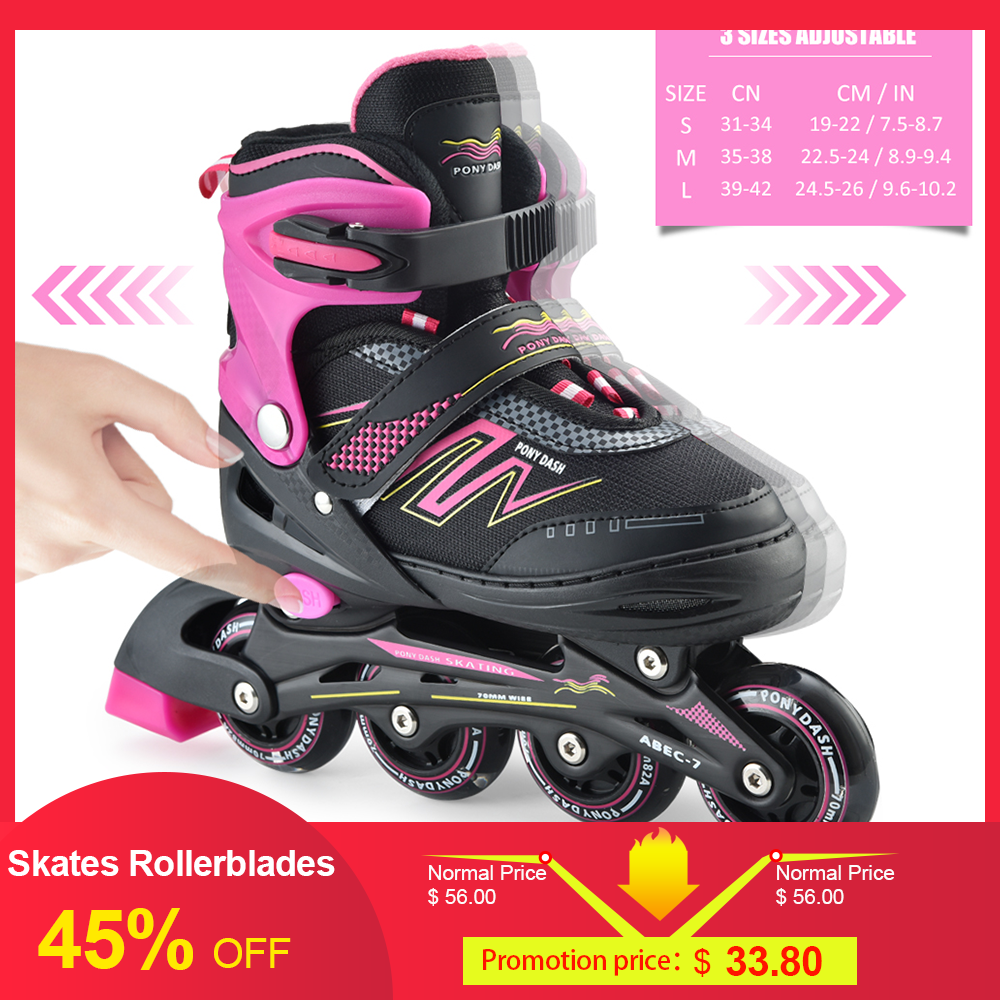 Patins de sport en plein air patins à roues alignées réglables enfants traceur pour enfants garçons filles roues éclairantes patins à roulettes chaussures