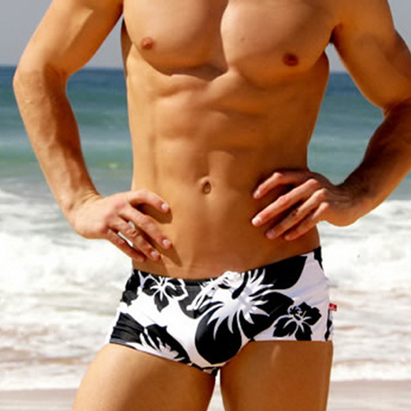 High Quality Men Swimwear Swimsuit Men Swimming Trunks Penile Pouch Patchwork Beachwear Sexy Briefs Bikini Shorts Bathing Suit