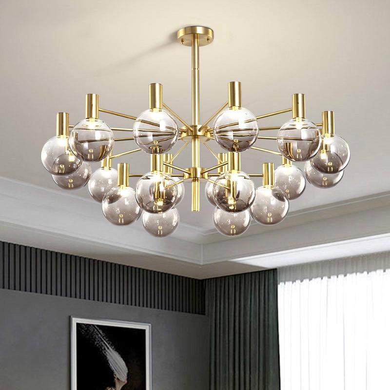 Lustre de luxo com luz led para sala de estar, moderno, simples, para sala de jantar e quarto, novidade nórdica, para teto
