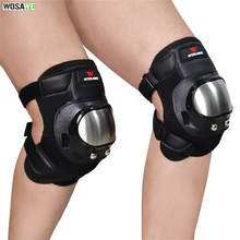 WOSAWE Motorcycle Stainless Steel Knee Pads Elbow Pad Set Motocross Off-road Racing Anti-Fall Protective Gear Body Guard цена