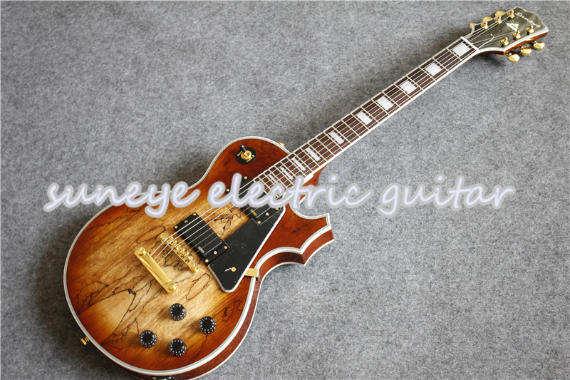 China DIY Suneye Custom Electric Guitar In Natural Wood Color Left Handed Kit Available