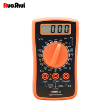 RuoShui 33 Digital multimeter mini Portable AC / DC voltage diode hEF Resistance Current tester Easy to use Voltmeter multimetro