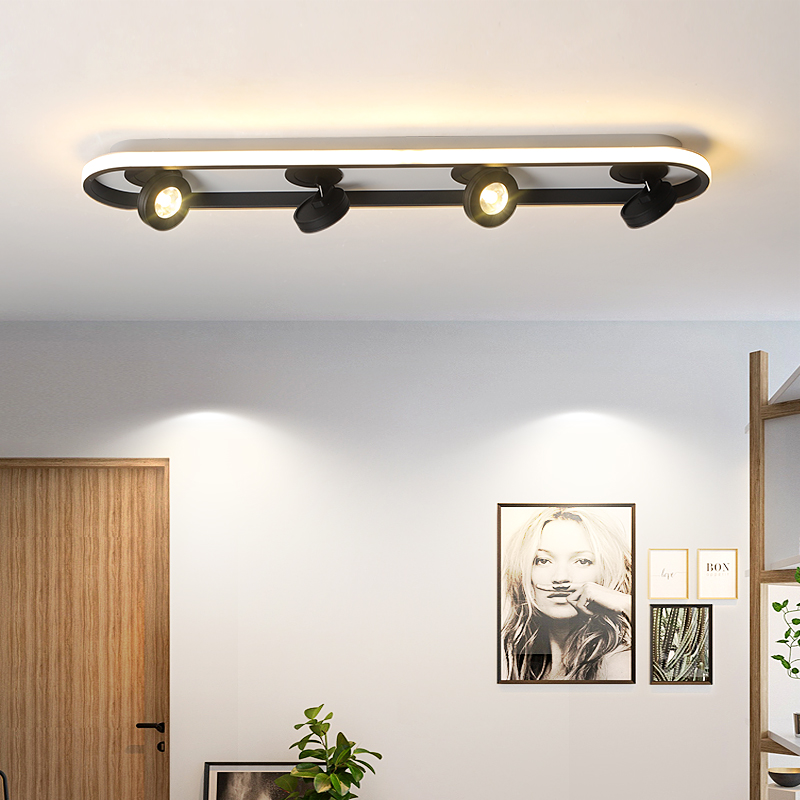 lowest price Nordic modern minimalist LED chandelier bedroom LED ceiling lamp living room personality room solid wood plus iron lighting