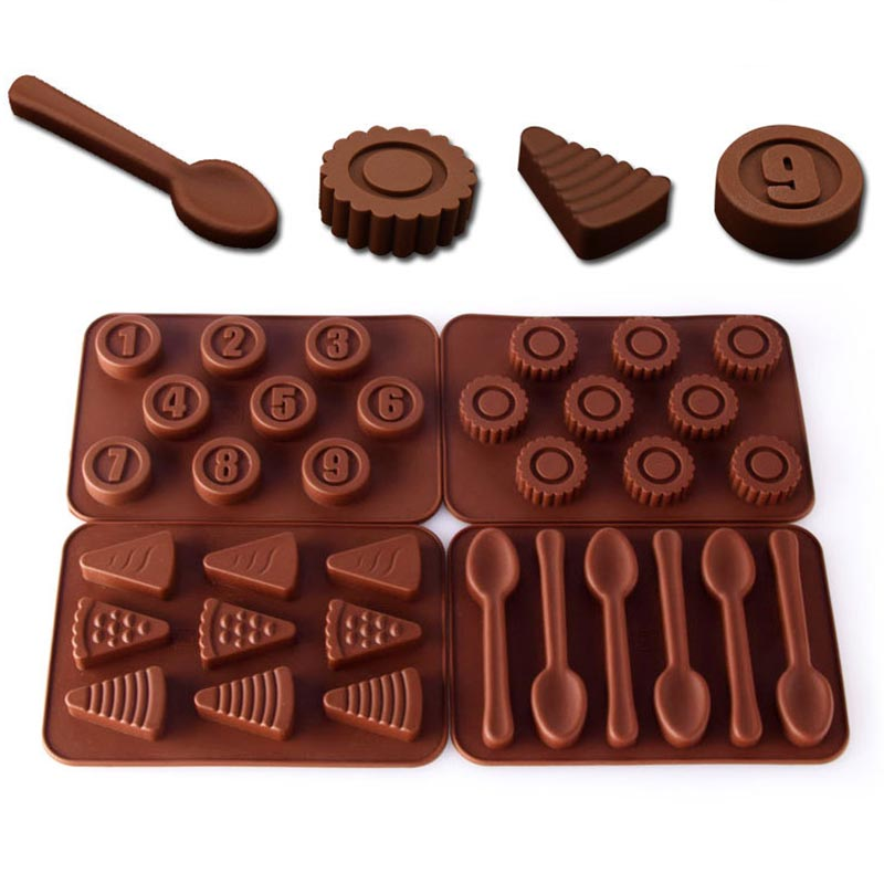 Silicone Chocolates Molds 3D Baking Nonstick Jelly Pudding Molds DIY Bakeware
