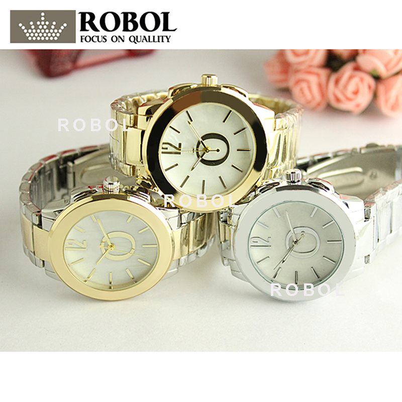RLLEN Stainless Steel Men Women Couples Quartz Watches Fashion Luxury Jewelry Gift Precision Temperament Charm Exquisite