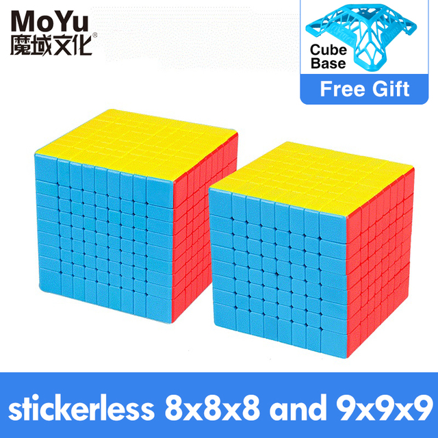 MOYU Khối Từ Tốc Độ 7X7 9X9 8X8 Khối Lập Phương Profissional Weilong Wr M Meilong GTS 3M Bộ 6X6 Cube Cho Đồ Chơi Trẻ Em Bé Trai Xếp Hình