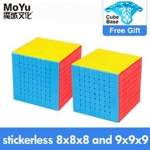 MOYU Yuhu волшебный куб магнитный Скорость 7x7 9x9 8x8 кубик Рубика, профессиональная Weilong Wr м Meilong GTS набор 3M 6x6 куб для детей игрушки мальчики Пазлы