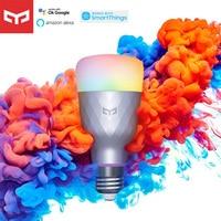 Yeelight-bombilla LED inteligente 1SE E27, 6W, RGB, Control por voz, luz colorida, 100-240V, compatible con Google Home