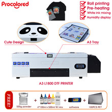 Procolored New Design Panda A3 L1800 DTF Printer + PET Film + Software+ Inks+Powder WIMS+CISS System