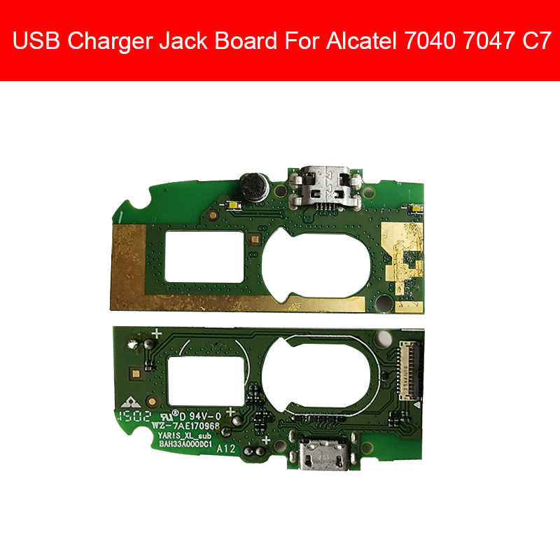 USB Charger Board Voor Alcatel One Touch POP C7 Dual 7040 7041 OT7040 OT7041 Poort Opladen Module Usb Connector Poort board
