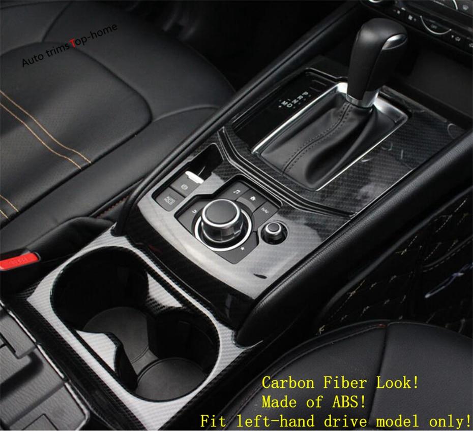 Carbon Fiber Central Control Outlet Air Vent Trim For Mazda CX-5 CX5 2017 2018