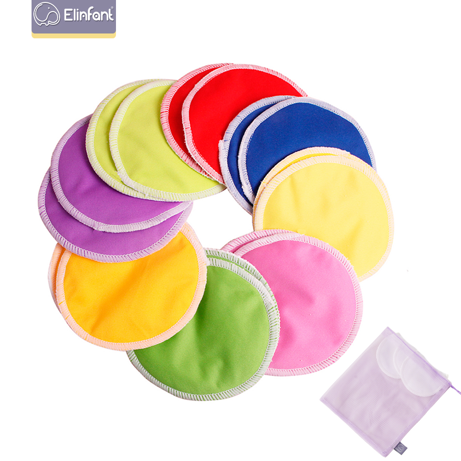 Elinfant Healthy Mama Cloth Pad Round Pul Bamboo Breast Feeding Pads Nursing Pad Resuable Washable Factory Wholesale Selling