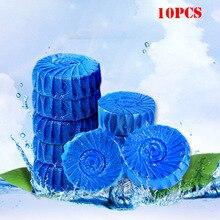 Горячая эффективный 10 шт бачковый очиститель для унитаза таблетки Антибактериальный очищающий таб синий пузырь для ванной TY
