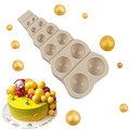 Силиконовая форма для выпечки в модели шоколадная форма для помадки, большие, маленькие мульти Размеры с жемчужным шариком Форма DIY Инструм...