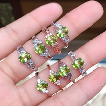 New 925 Sterling Silver Rose Gold Plated Pure Peridot Micro-Set Zircon Ring Women's Jewelry Adjustable Mouth(China)