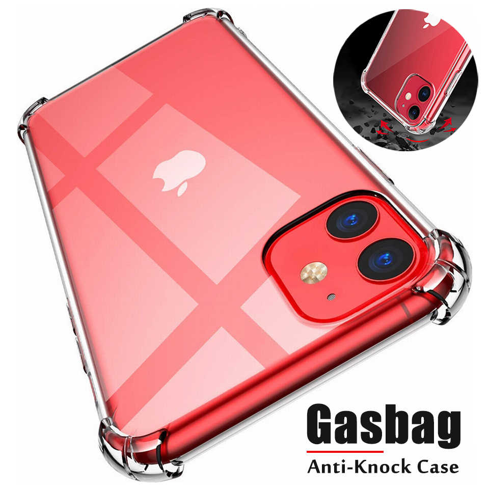 Anti-Klop Soft Cover voor iPhone 11 X XR XS 7 8 Case Silicone Cover Case op iPhone 8 7 6s 6 Plus 5 4S iPhone 11 Pro X XS Max Case